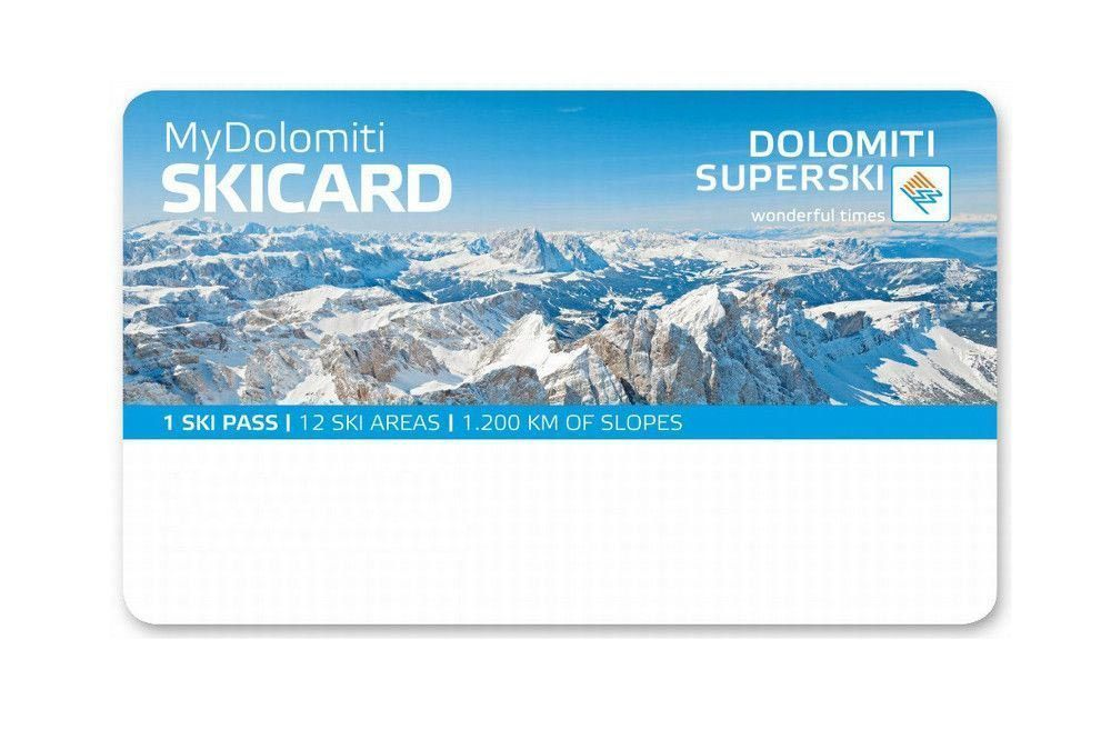 Example of a ski pass card with which you can open a deposit thanks to the RENT-ALL rental management system.
